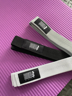 3 pack of full body resistance bands with mesh carry bag and instruction manual