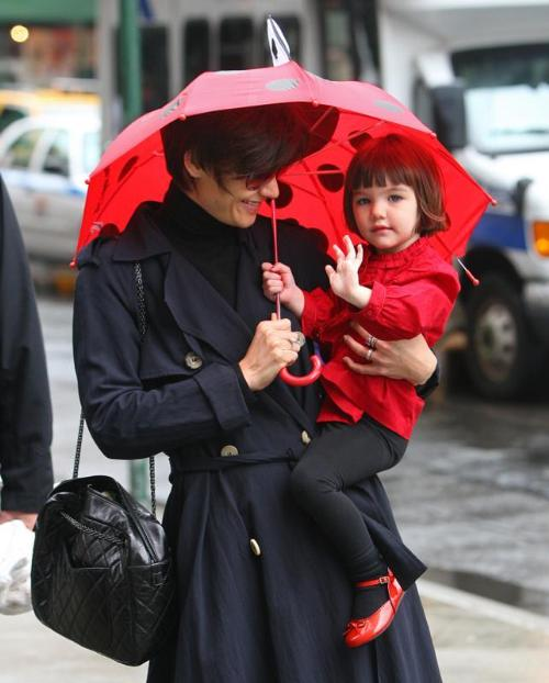 Suri Cruise and Katie Holmes with Kidorable