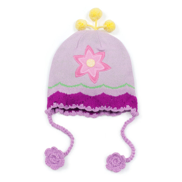 Lotus Flower Knit Hat