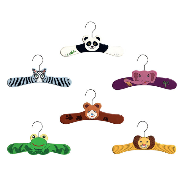 Wild Animals Hanger Set