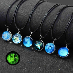 Universe Glowing Glass Pendants