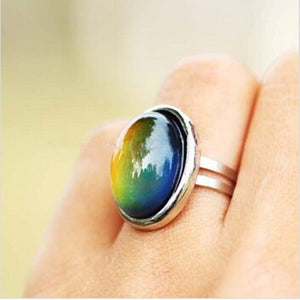 Crystal changing Color Mood Ring