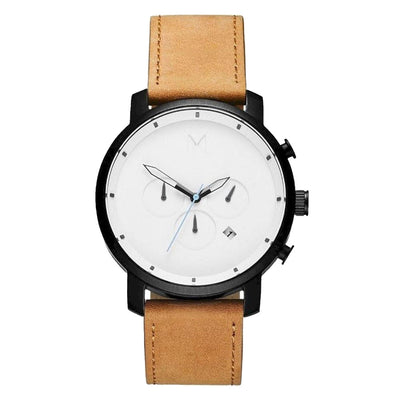 MVMT D-MC01-WBTL Chrono 45 White Black Tan Heren horloge