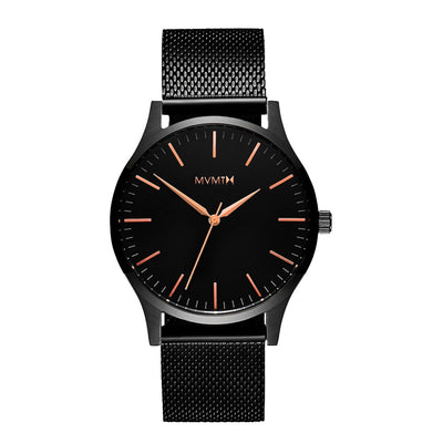 MVMT D-MT01-BBRG 40 Series Black Rose Heren horloge