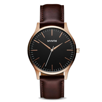 MVMT D-MT01-BLBR 40 Series Rose Gold Brown Heren horloge