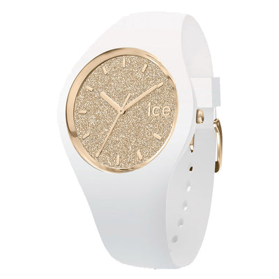 Ice-Watch IW001345 Ice Glitter White Gold Small Dames horloge