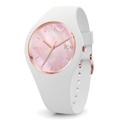 Ice-Watch IW017126 Ice Pearl White Medium Dames horloge