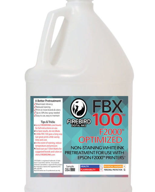 F2000™ Optimized – FBX-100™ – DTG Pretreatment / GEN 2 FORMULA