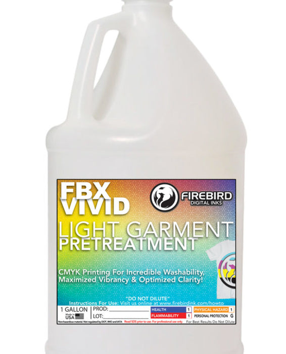 Firebird LIGHT GARMENT PT – FBX-VIVID™ – DTG Pretreatment