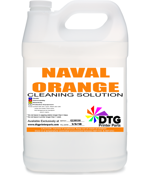Naval Orange Printerhead Printhead Head Cleaning Solution