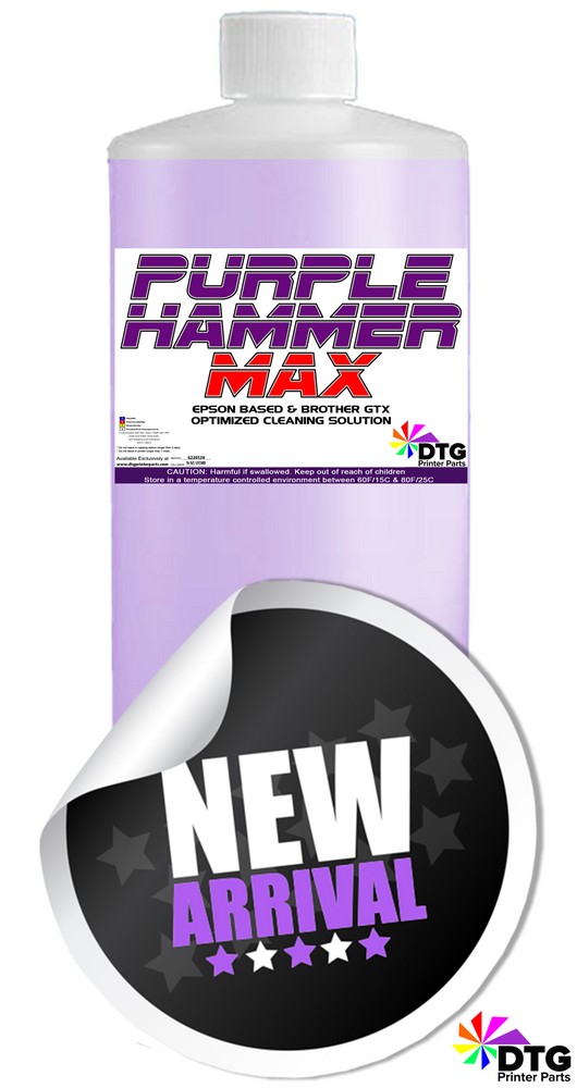 Purple Hammer MAX Brother GTX/Epson F2100 F2100 Optimized Cleaning Solution - 1Liter