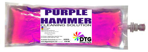 Mpower MP5/MP10/Ricoh Ri3000/Ri6000 220ml PURPLE HAMMER HV Cleaning solution bag (STRONG FOR CLOGS)