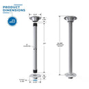 Surfit Table Leg Kit - Recessed Mount - Two Pack