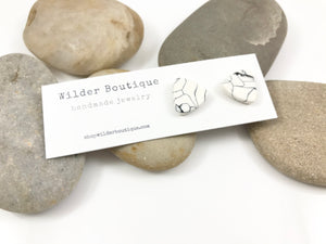 White Marble Stud Collection