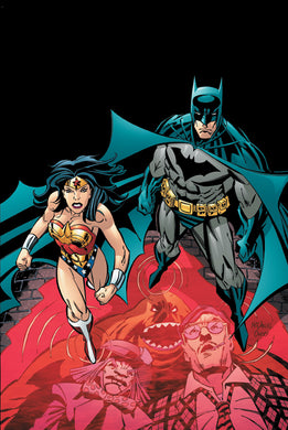Batman and Wonder Woman ready to face off against Clayface and Mad Hatter.