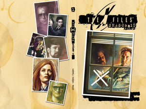 Mock-up cover of Mulder looking out a window