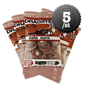 DRAGSTER COLA SURA 65G - 5 st - Candify.se