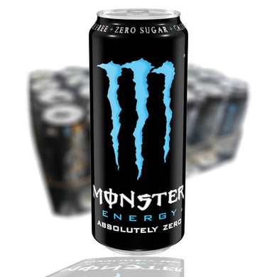 MONSTER ABSOLUTELY ZERO 50 CL (BLÅ) - 24st (ink pant) - Candify.se