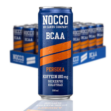 NOCCO BCAA PERSIKA 33 CL - 24 st (ink pant) - Candify.se