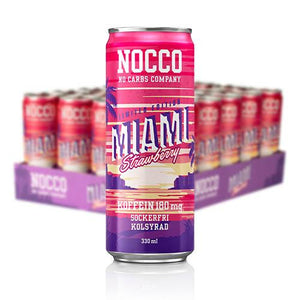 NOCCO MIAMI STRAWBERRY 24-PACK 33CL (ink pant) - Candify.se