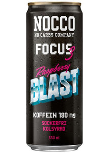NOCCO Focus 3 Raspberry Blast 33 cl (Ink Pant) - Candify.se