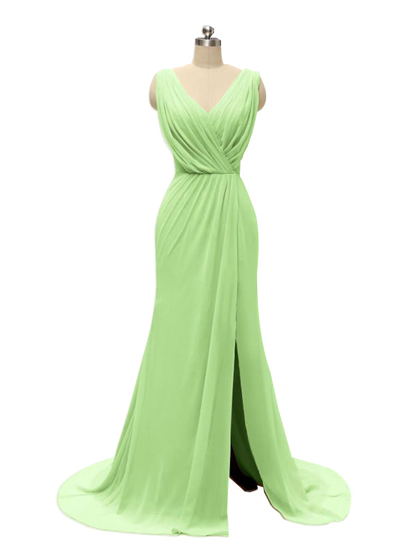 Sweetheart Simple A-line Floor-Length Chiffon Bridesmaid Dresses