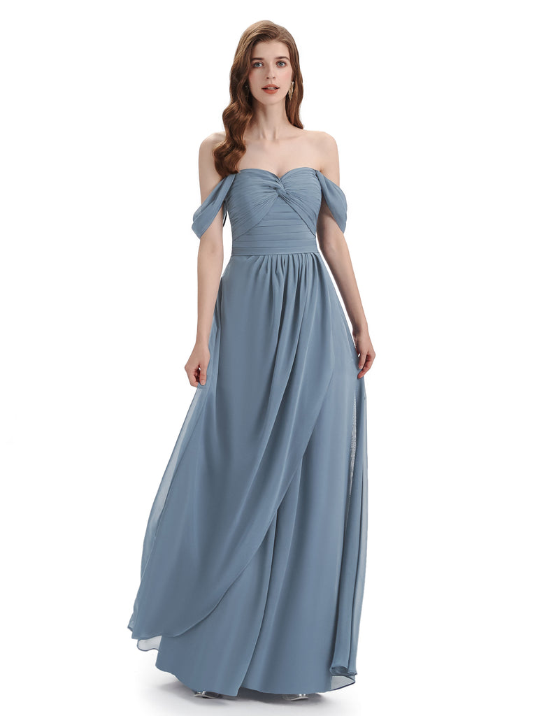 Charming Off-The-Shoulder Sweethert Floor Length Bridesmaid Dresses