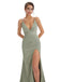 Cap Sleeve Mermaid Beaded Round Neck Prom Dress, YKX056
