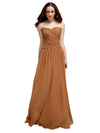 Sweetheart Long A-Line  Chiffon Bridesmaid Dresses