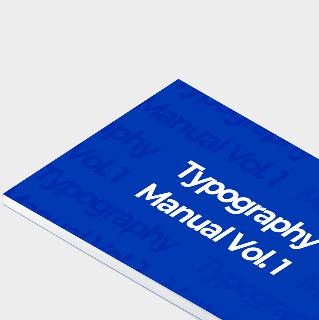 Typography Manual Vol. 1 , Text free booklet, learn branding text, learn typography free.