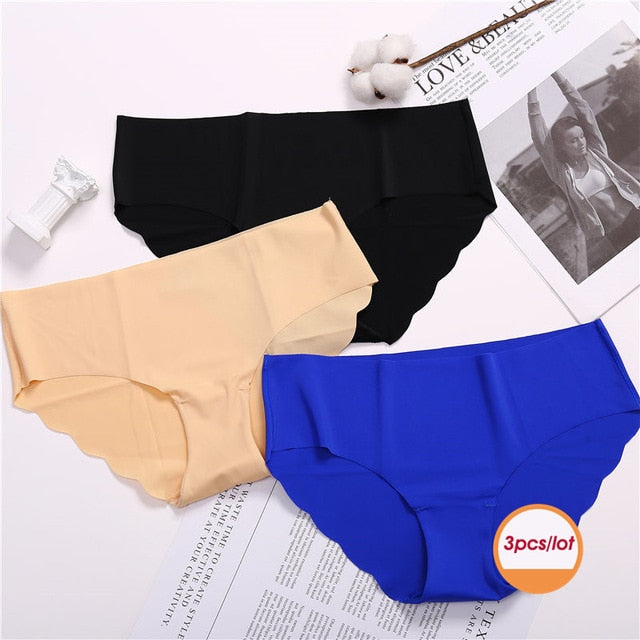 Pack Of 3 Low-Rise Seamless Spandex Panty