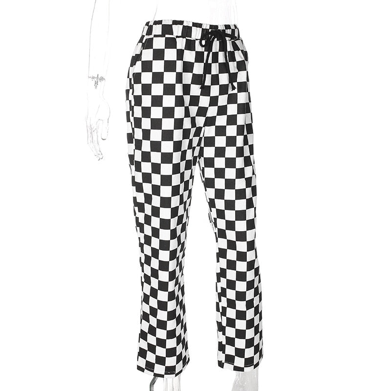High Waist Straight Loose Sweat Pants/Trouser