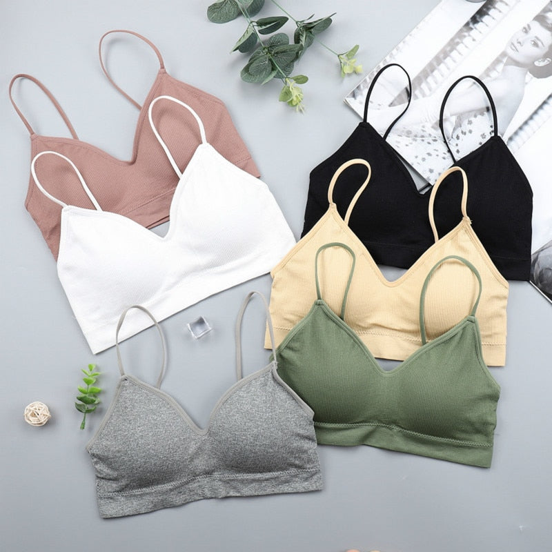 Elastic Gathering Soft Padded Anti Light Bra