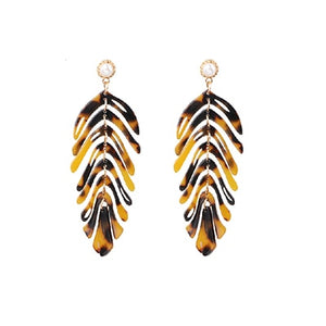 Leaf Acrylic Dangle Earrings