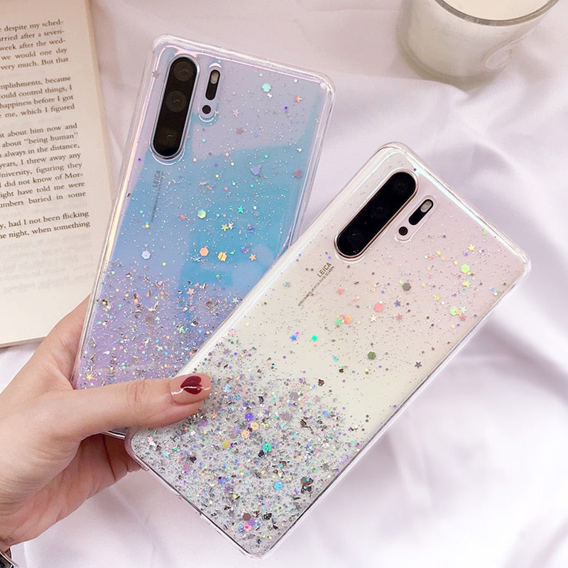 Bling Glitter Star Case For Huawei