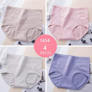Pack Of 4 high Waist Seamless Breathable Cotton Panties