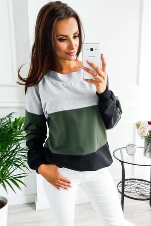 Full Sleeves Pullover/T-shirt || Color Block Casual Lace T-Shirt