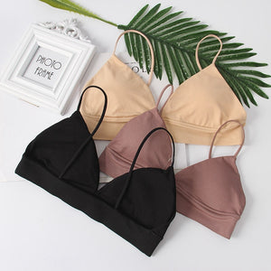 Seamless Deep V Soft Bra