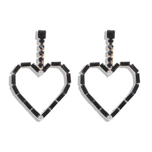 Acrylic Drop Earrings With Black Shade