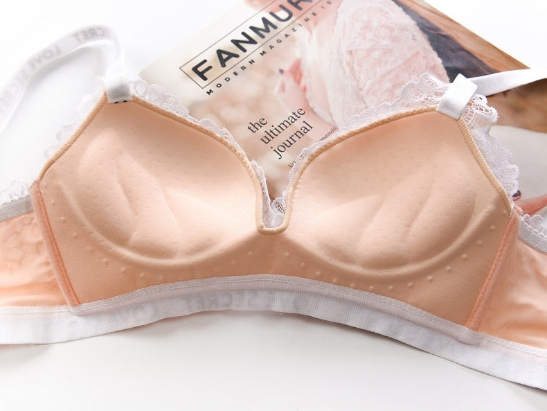 Push Up Padded Lace Bra || Wire-Free Push Up Bra || With Lace Panty