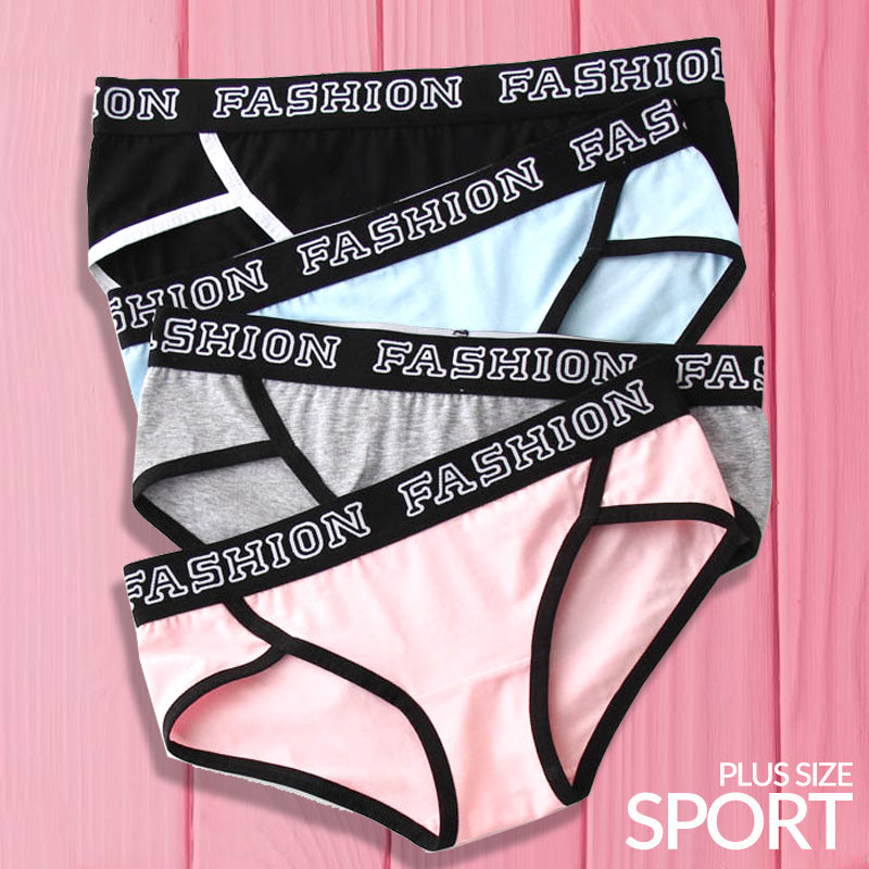 Cotton Seamless Low-Waist Sports Panties