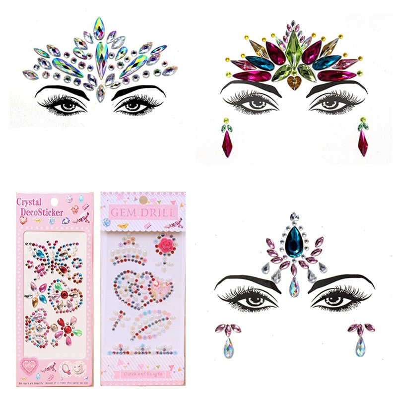 Face Jewelry Crystal Stickers