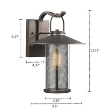 "Load image into Gallery viewer, ""ELIJAH""   Rubbed Bronze Outdoor Wall Sconce 14"" Tall - renaissance Lighting"
