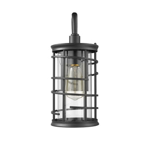 """LAUREL""  1 Light Textured Black Outdoor Wall Sconce - renaissance Lighting"