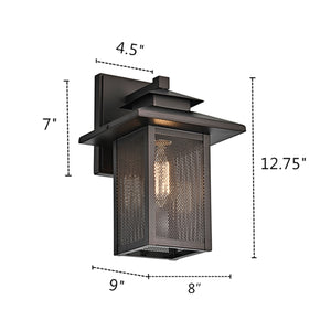 "CH2S201RB13-OD1 IRONCLAD  1 Light Rubbed Bronze Outdoor Wall Sconce 13"" - renaissance Lighting"