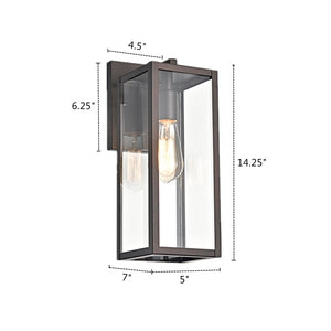 "RICHARD  Rubbed Bronze Outdoor Wall Sconce 14"" Height - renaissance Lighting"