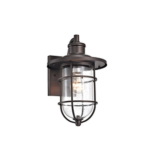 "CH2S298RB14-OD1  MARKUS Transitional 1 Light Rubbed Bronze Outdoor Wall Sconce 14"" Height - renaissance Lighting"