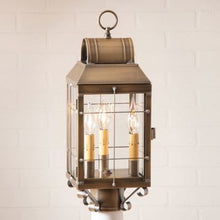Load image into Gallery viewer, Martha's Post Outdoor Light in  Brass - 3 Light - renaissance Lighting