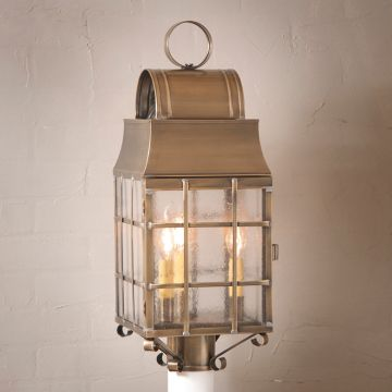 Washington Post Outdoor Light in  Brass - 3 Light - renaissance Lighting