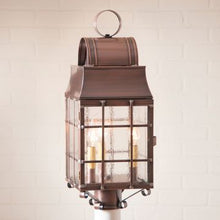 Load image into Gallery viewer, Washington Post Outdoor Light in  Brass - 3 Light - renaissance Lighting